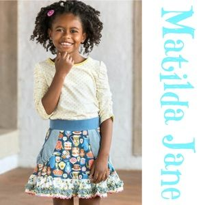 Matilda Jane Ruffle Floral Tea Party Skirt Size 2